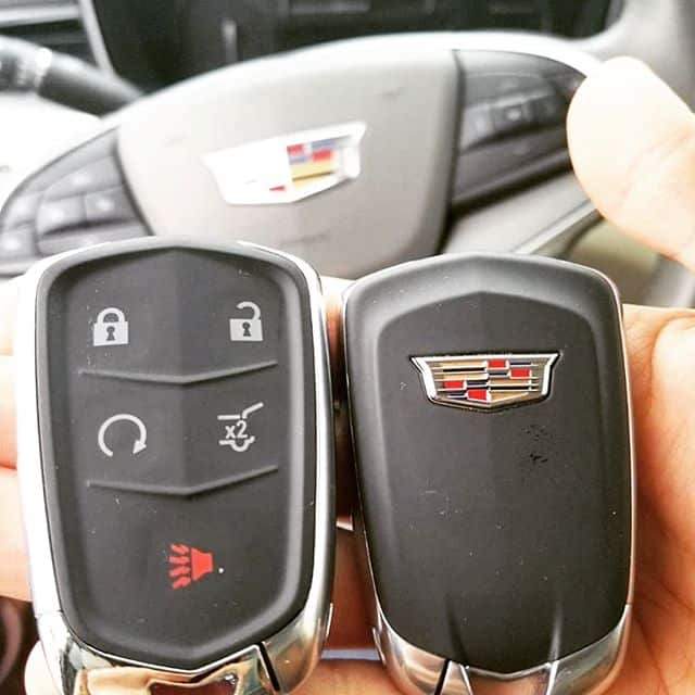 Two new fobs for a Cadillac.
