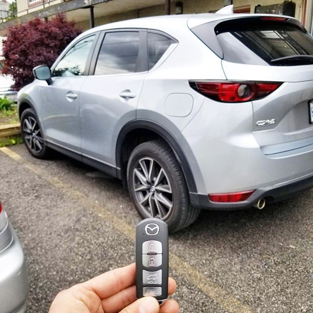 We programmed this new remote for a Mazda on-site in the parking lot.