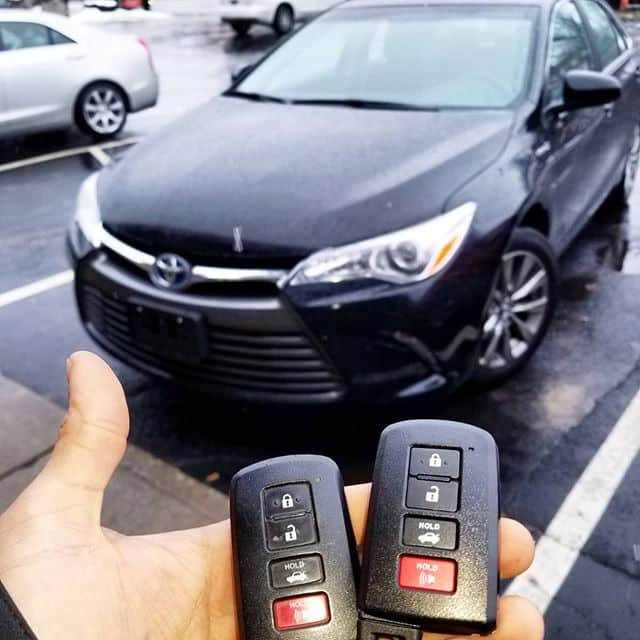 We programmed two new remotes for this Toyota Corolla.